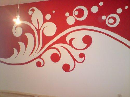 Wand streichen schwierige farbwahl hilfe farbe maler - Wandmuster selber malen ...