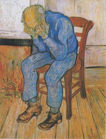 Vincent van Gogh: Trauernder alter Mann - (Bilder, Kunst, Gemälde)