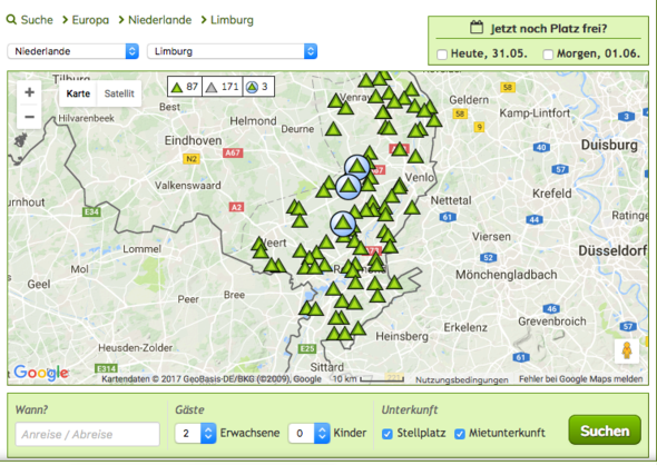 - (Camping, Pfingsten)