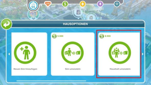 Sims Freeplay Haushalt umsiedeln - (Freizeit, Spiele, Games)