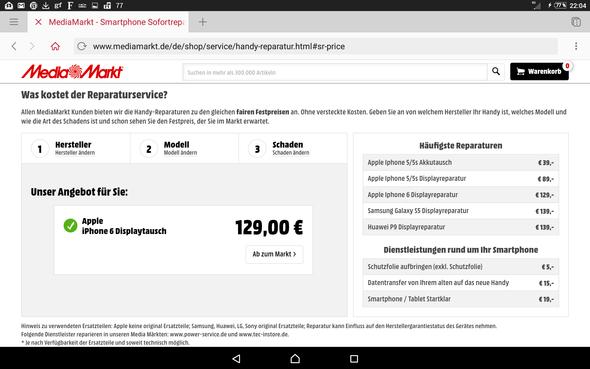 - (Smartphone, Preis, Reparatur)