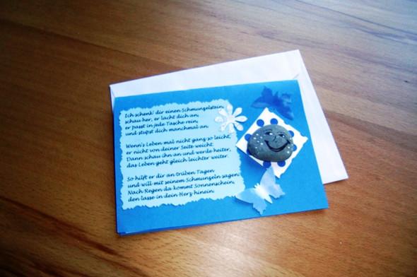 Schmunzelstein Karte - (Buch, Geschenk, basteln)
