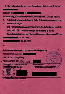 BF17 Erlaubnis  - (Auto und Motorrad, Führerschein, Autofahren)