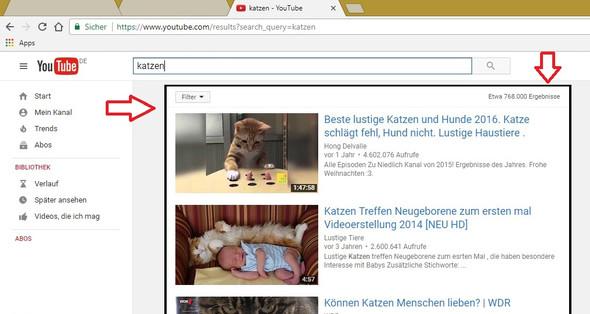 2 bei Youtube tritt das Problem so auf  - (Browser, Chrome)
