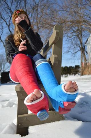Winter - (Füße, Beine, gebrochen..)