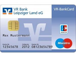 EC-Karte einer Volksbank - (Internet, Geld, Bank)