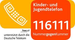 Logo Kinder- und Jugendtelefon - (Mädchen, Angst, Depression)