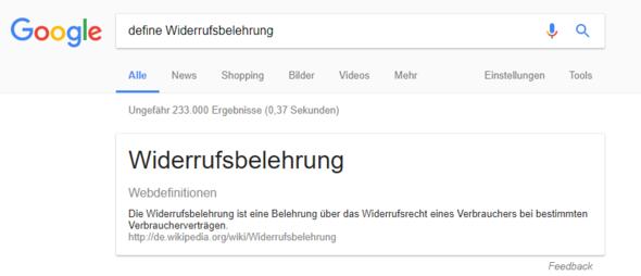 Google ist dein Freund - (Widerruf, Belehrung)