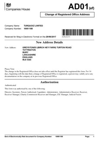Unternehmensregister Adressänderung - (Freizeit, Hobby, Abo)