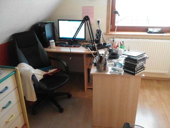 Schreibtisch - (Technik, Mikrofon, Ton)