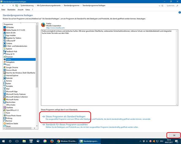 Firefox als Standardprogramm festlegen - (Computer, Windows 10, Win 10)