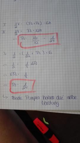 Pumpenaufgabe - (Mathematik, Textaufgabe)