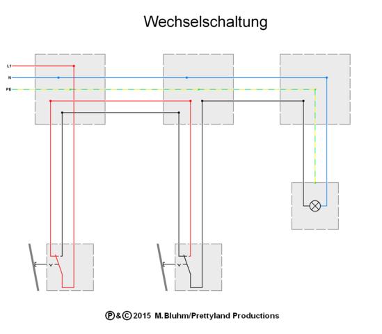 Wechselschaltung (Quelle: GF/electrician) - (Strom, Elektrik)