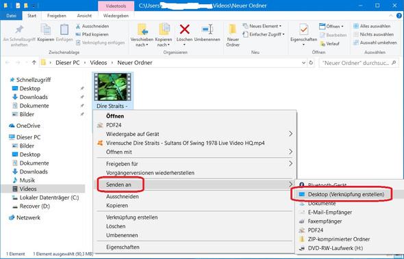 Desktop > Verknüpfung erstellen - (Computer, PC, Festplatte)