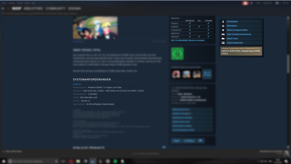 Steam Shopseite von NSUNS4 - (Computer, Naruto, UltimateNinjaStorm 4 )