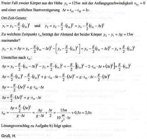 - (Schule, Physik, Senkrechter Wurf)