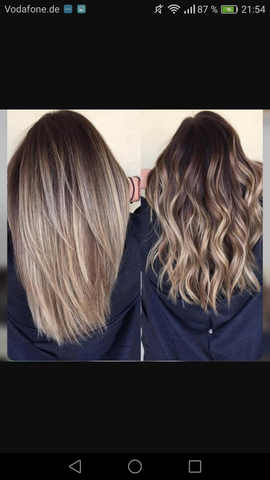 Haare färben balayage