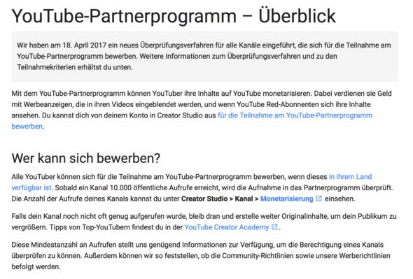 - (Youtube, Welt)