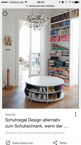 drehregal f r schuhe wohnung klamotten bauen. Black Bedroom Furniture Sets. Home Design Ideas