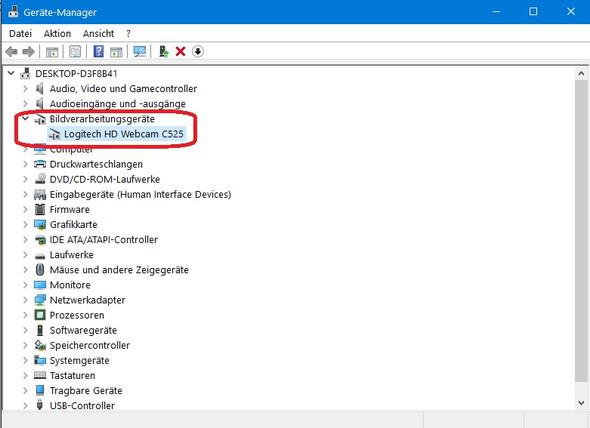 Webcam im Gerätemanager - (Computer, Handy, Smartphone)