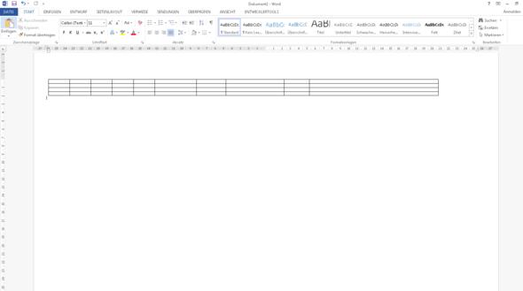Große Tabelle in Word - (Informatik, Excel, Word)