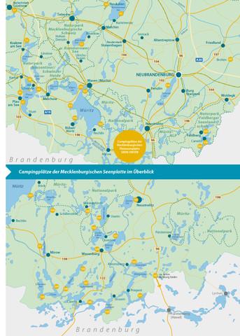 Karte mit Campingplätzen - (Urlaub, Camping, Wohnwagen)