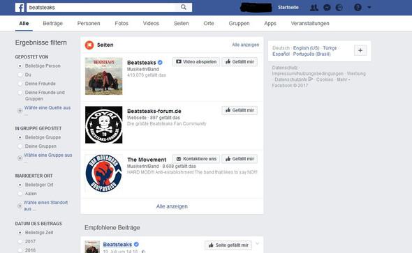 - (Facebook, Veranstaltung, Suchfunktion)