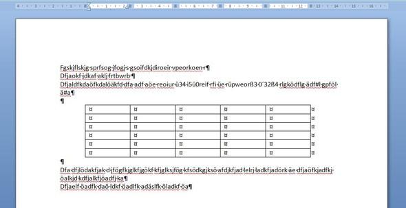 - (Word, Tabelle)