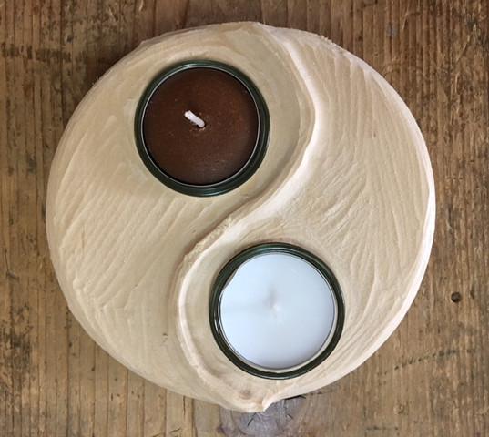 Holzrohling Yin und Yang zum selbst Schnitzen aus Lindenholz - (Schnitzen, yin yang)