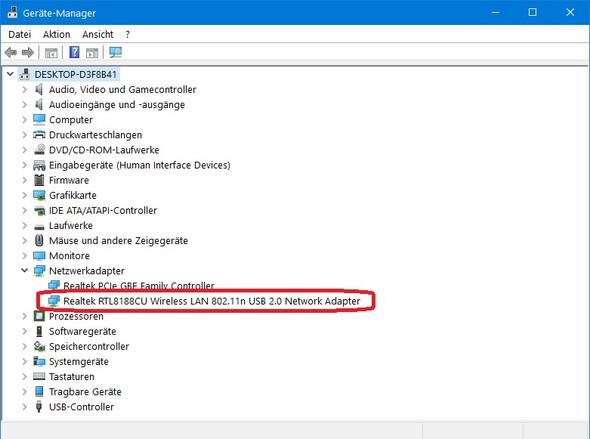 Gerätemanager, Netzwerkadapter, WLAN - (Computer, Spiele und Gaming, Windows 10)