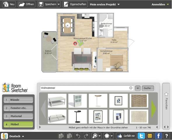 RoomSketcher Raumplaner.  - (Programm, renovierung)