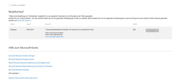 - (Microsoft, rewards)