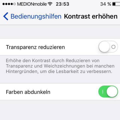 Einstellungen Allgemein Bedienungshilfen - (iPhone, Farbe, Code)