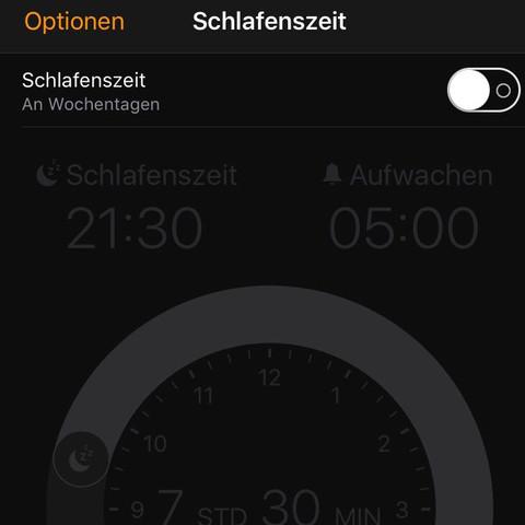 Einstellung  - (iPhone, Apple, Wecker)