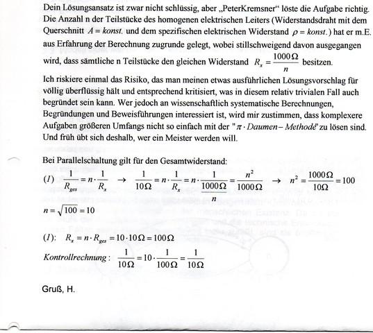 - (Physik, Widerstand eines Leiters)