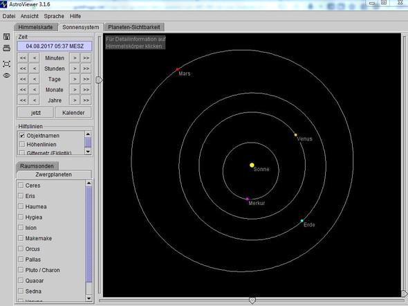 """Position der Venus als """"Morgenstern"""" - (Sterne, groß)"""
