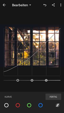 So in etwa sollte die Kurve aussehen  - (Fotografie, Filter)