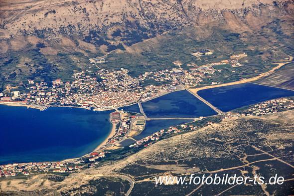 Stadt Pag auf der Insel Pag - (Urlaub, Kroatien, Reisen und Urlaub)