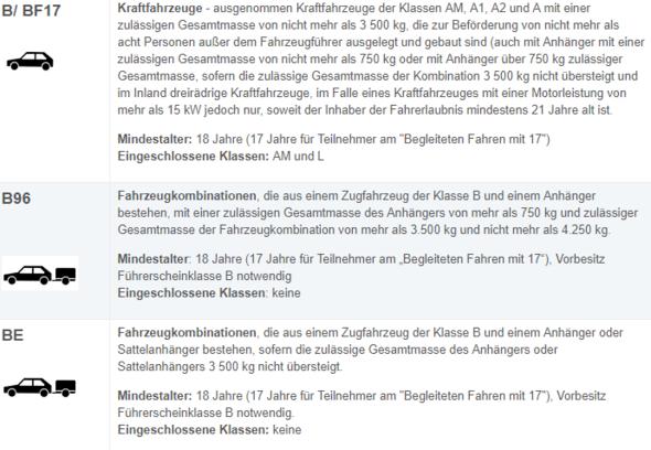 TÜV Führerschein Klasse B und BE - (Auto, Führerschein, Fahrschule)