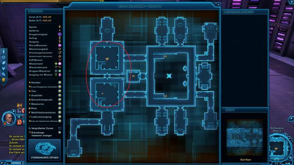Hier kannst du meine Position einmal auf der Karte sehen.  - (Star Wars, the old republic, sSSi)