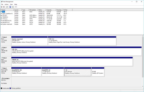 - (Windows 7, Partition, Problem bei Bearbeitung)