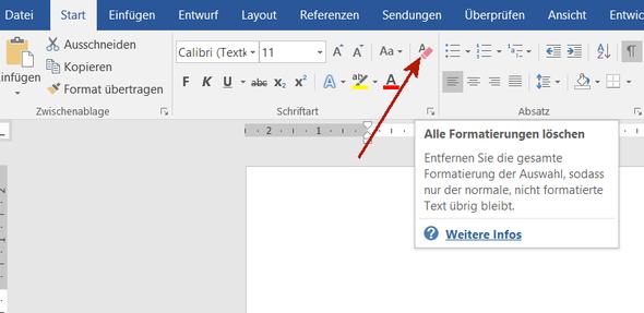 Format löschen - (Word, Office, Überschrifen)