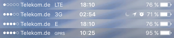 iPhone Leiste LTE & co - (Internet, Handy, Technik)