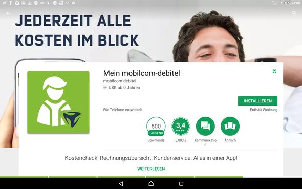 Mobilcom Debitel Und Vodafone App Vertrag Telefon Netz