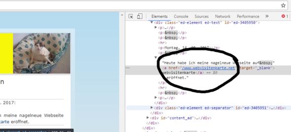 Mit f12 kannst du die Webentwicklertools öffnen und deinen Quelltext untersuchen - (html, Link, Webseite)