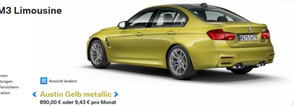 BMW M3 - (Auto, Farbe)