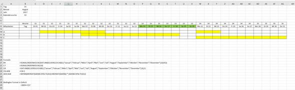 - (Excel, Urlaubsplan)