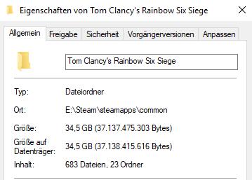 Ordnergröße - (Spiele, Download, PS4)