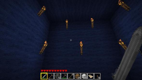 Und so siehts im Inneren des Raumes aus - (Minecraft, Monster, spawn)