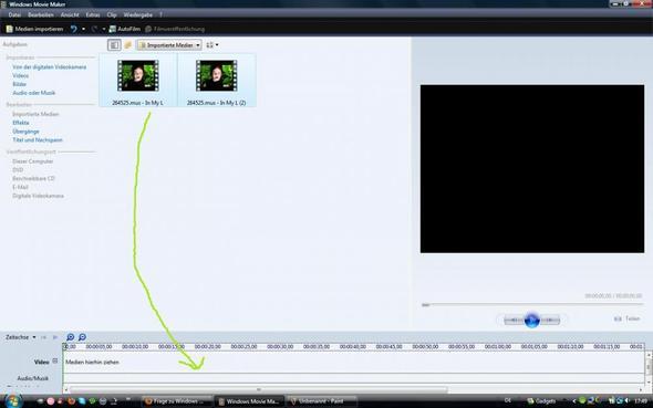 dann untein reinziehen ^^ - (Windows Movie Maker, Stop-Motion)